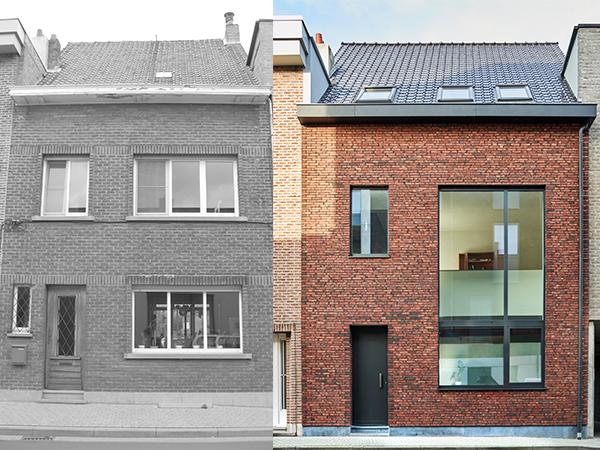 Financi le meerwaarde door renovatie a s p gevels for Huis voor na exterieur renovaties